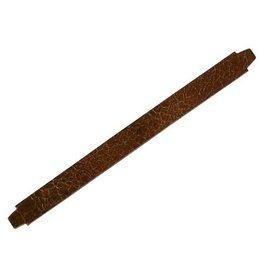 CDQ bracelet strap leather crackle brown 13mm M