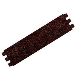 CDQ bracelet strap leather crackle dark brown 39mmx18.5cm M