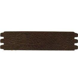 CDQ bracelet strap leather crackle dark brown 44mmx18.5cm medium size