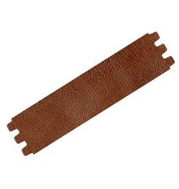 CDQ bracelet strap leather crackle medium.brown 39mmx18.5cm medium size