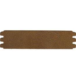 CDQ bracelet strap leather crackle medium.brown 44mmx18.5cm medium size