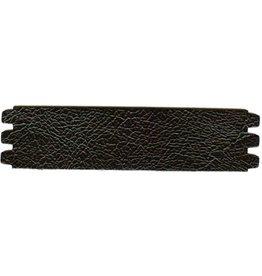 CDQ bracelet strap leather crackle black 44mmx18.5cm medium size
