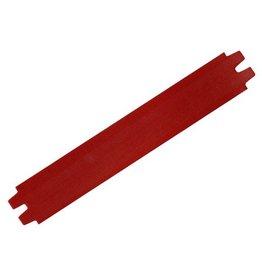 CDQ bracelet strap leather dark red 29mm