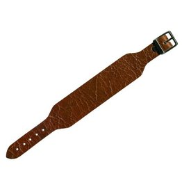 CDQ bracelet strap leather buckle crackle brown 30mm