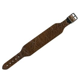 CDQ bracelet strap leather buckle crackle medium.bruin 30mm