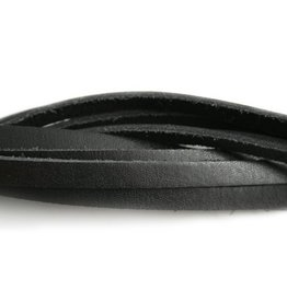 CDQ bracelet strap leather black  6mmx85cm