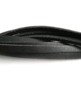 CDQ schwarzes Lederarmband  6mmx85cm