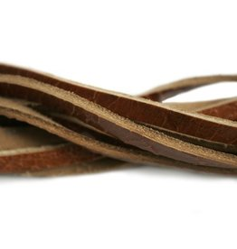 CDQ leather strip crackle licht brown 85cm
