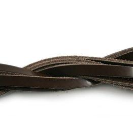 CDQ Leerstrook donker bruin glans 85cm