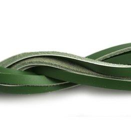 CDQ leather strip dark green 6mmx85cm