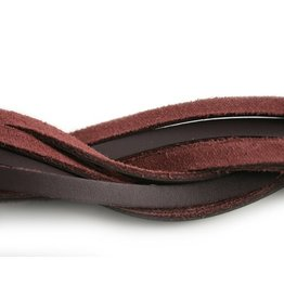 CDQ leather strip dark purple 6mmx85cm