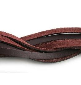 CDQ Lederstreifen dunkelviolett 6mmx85cm