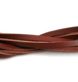 CDQ leather strip dark red 6mmx85cm