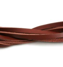 CDQ leather strip dark red 6mmx85cm