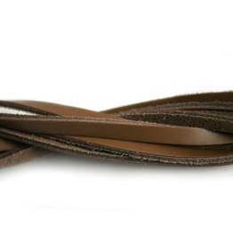 CDQ leather strip light brown 5mm