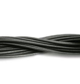 CDQ leather cord 2mm grey metallic 1 meter