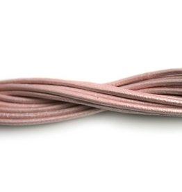 CDQ lederband  2mm light pink metallic 1 meter .