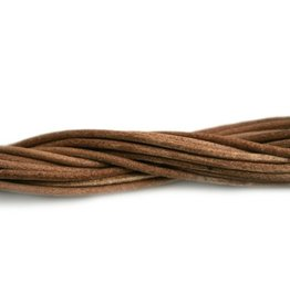 CDQ leather cord 2mm natural 1 meter .