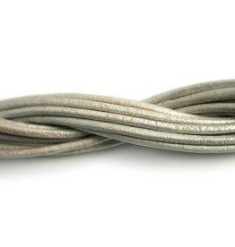 CDQ leather cord 2mm sea shell metallic 1 meter .