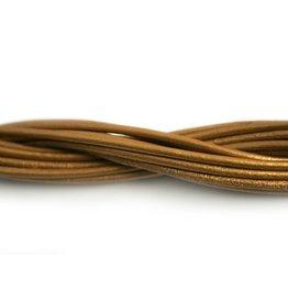 CDQ leather cord 2mm sun metallic 1 meter .