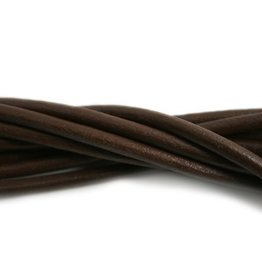 CDQ leather cord 4mm brown 100cm