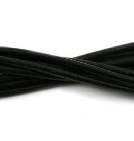 CDQ lederband  4mm black 100cm