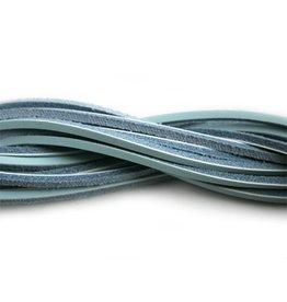 CDQ leather cord square 2mm ca.85cm l.turq