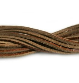 CDQ leather cord square 2mmx85cm crackle brown