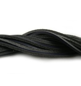 CDQ leather cord square 2mmx85cm dark blue