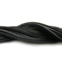 CDQ leather cord square 2mmx85cm dark blue
