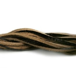 CDQ leather cord square 2mmx85cm dark brown