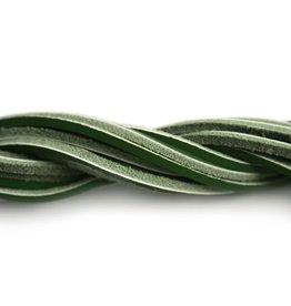CDQ Leerveter vierkant 2mmx85cm donker groen