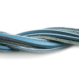 CDQ leather cord square 2mmx85cm dark turq