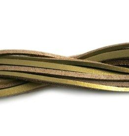 CDQ lederband  square 2mmx85cm gold