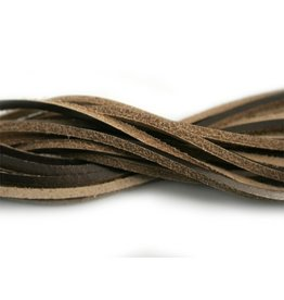 CDQ leather cord square 2mmx85cm old gold