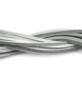 CDQ leather cord square 2mmx85cm white