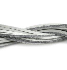 CDQ lederband  square 2mmx85cm white