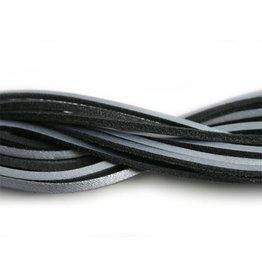 CDQ leather cord square 2mmx85cm zilver