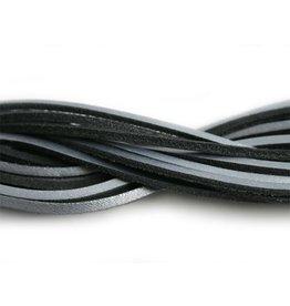 CDQ lederband  square 2mmx85cm zilver