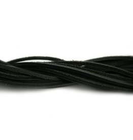 CDQ leather cord square 2mmx85cm black