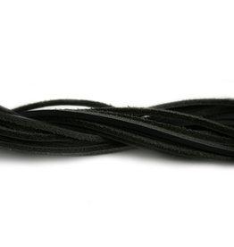 CDQ Leerveter vierkant 2mmx85cm Zwart