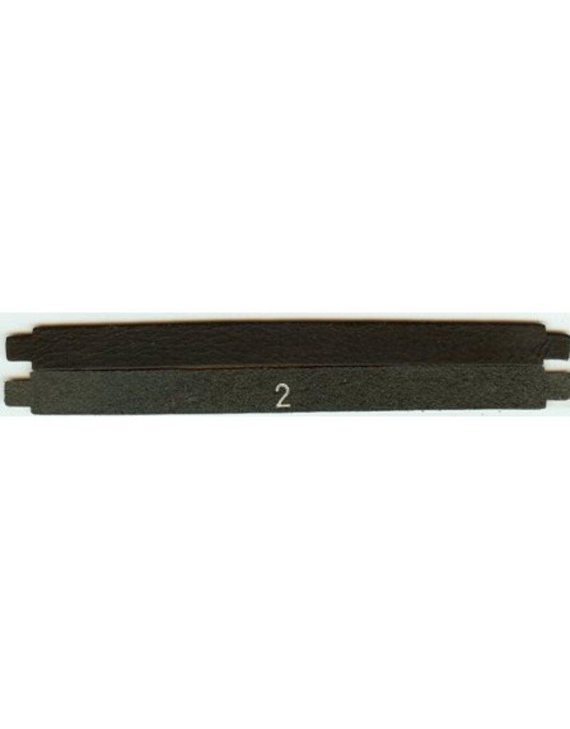 CDQ 175x13mm schwarzes Lederband M