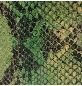 CDQ Plat leder Lime reptiel-snake 13mmx85cm