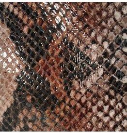 CDQ Leerstroken Nederlands splitleder Mocca reptiel-snake 13mmx85cm verpakt per 3 stuks