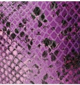CDQ Leerstroken Nederlands splitleder Purple reptiel-snake 13mmx85cm verpakt per 3 stuks