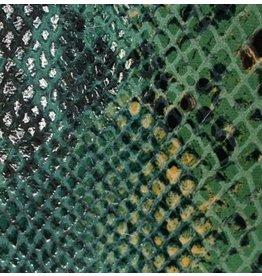 CDQ Leerstroken Nederlands splitleder Turqoise reptiel-snake 13mmx85cm verpakt per 3 stuks