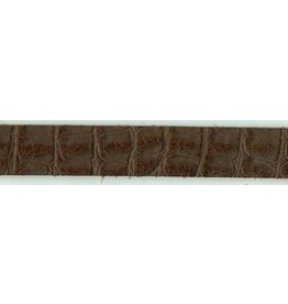 CDQ leather wristband strip 13mm Dragon Brown 13mmx85cm