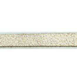 CDQ leather wristband strip 13mm Gobi White 13mmx85cm