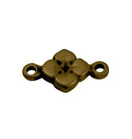 CDQ bedel 2 ogen bloem 11mm antiek goud