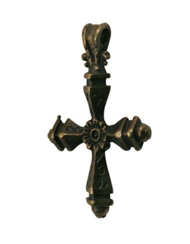 CDQ bedel Grieks kruis 44x30mm antiek goud
